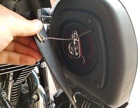 Harley Bagger Speaker enclosure Fit All 3D print model 1