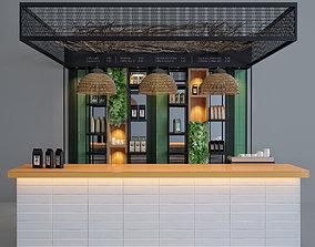 3D Coffee bar plants