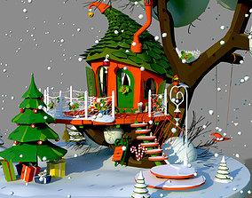 3D asset Merry Christmas