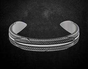 3D print model Eagle feather bracelet 55