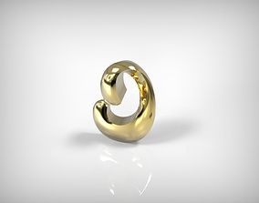Jewelry Golden Part Spiral Shaped 3D printable model