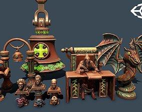 3D model Fantasy statues 2