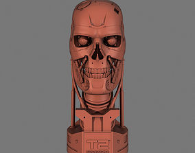 statue Terminator T-800 Skull Bust for 3d printing