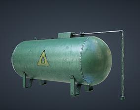 Industrial Gas Tank 3D model