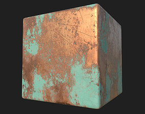 3D model Worn Copper with Patina Parameter PBR Texture