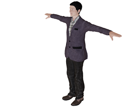 3D model low Poly Male character
