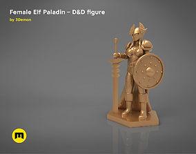 ELF PALADIN FEMALE CHARACTER GAME 3D printable model