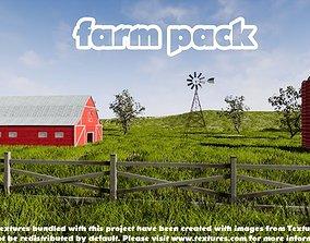 3D asset game-ready Farm Pack