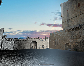 3D model Braganza Castle - Parade ground
