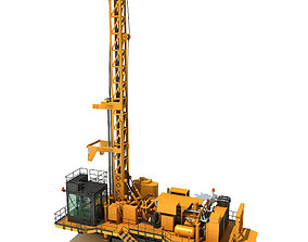 digger 3D model Rotary Drilling Rig