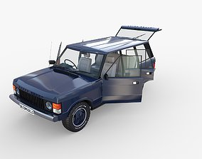 Range Rover Classic with interior RHD 3D model