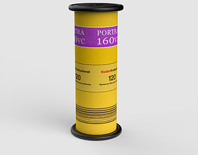 3D model 120 Kodak Portra Film Roll details