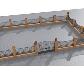 3D Modular fences straight and curved