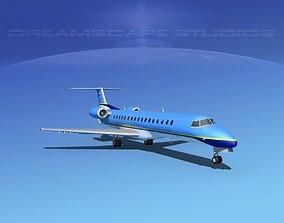 3D model Embraer ERJ-145 Express Charter