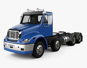 3D model Freightliner Columbia Chassis Truck 4-axle 2018