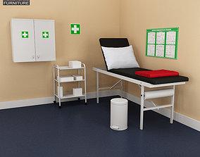 Hospital 02 Set Medical Furniture 3D asset