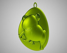 Rock Frog Necklace 3D printable model