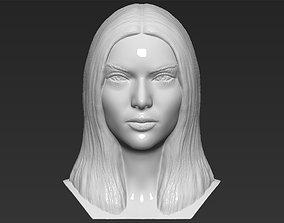 Kendall Jenner bust 3D printing ready stl obj formats