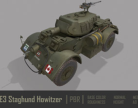 3D model T17E3 Staghound Howitzer