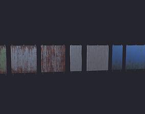 Fence Wood 3D asset