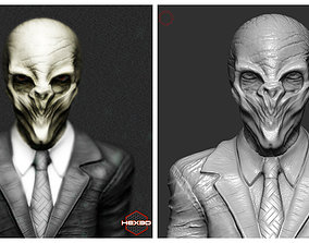 3D print model Dr Who - The Silence Bust