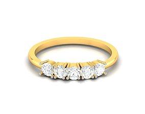 Women solitaire bride band ring 3dm render