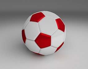 Classic High Quality Football 3D asset