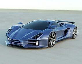 Evonius supercar concept 3D
