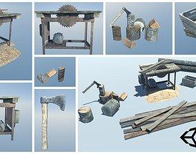 Lumberyard Decorations 3D model