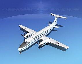 Beechcraft C-12J Huron V03 USAF 3D model