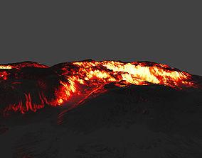 3D model low-poly volcano