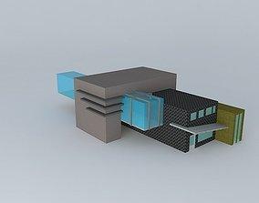Exterior of commercial complex 3D model