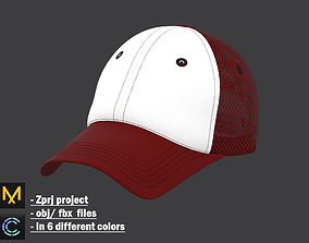 Unisex Cap in 6 different colors 3D