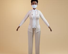 Nurse 3D asset VR / AR ready