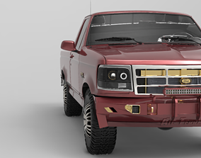 3D asset Bumper Ford F-150 of metal
