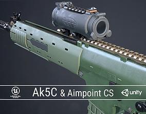 PBR Swedish Ak5C and Aimpoint CS 3D asset
