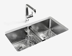 KOHLER Strive undermount kitchen sink 3D model