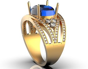 Oval ring 3D printable model fashion-and-beauty