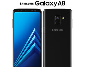 3D Samsung Galaxy A8 Black