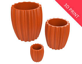 Vase for Plant 07 with 3 Different 3D printable model
