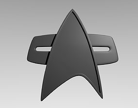 3D print model Star Trek Badge Voyager Ds9 Picard