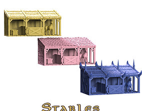 3D print model Stables