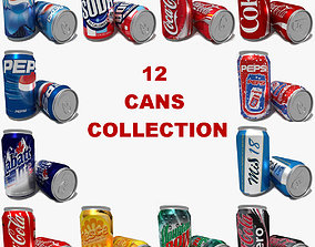 Cans Collection 3D model