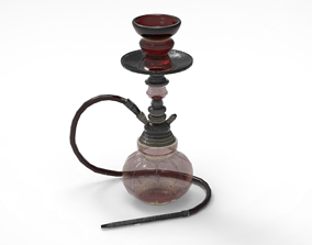 Low Poly Turkish Hookah 3D asset