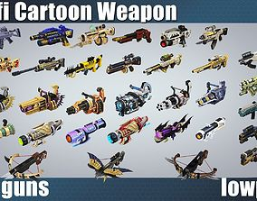 weapon pack vol01 Scifi cartoon weapon 3D model