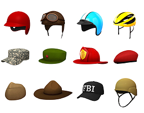 3D Hats and Helmet Pack 4