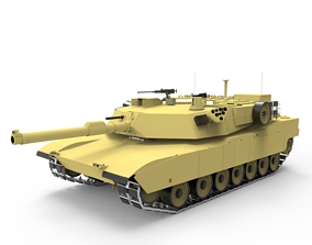 Tank Abraham M1 War 3D