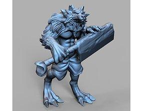 Werewolf fantasy 3D print model