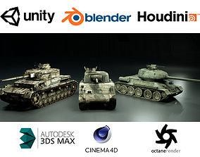 Tank Pack World War 2 3D model