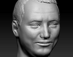 Male head 11 3D printable model